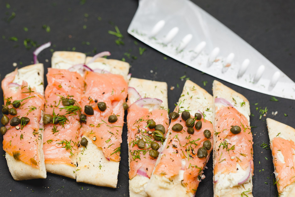 Smoked-Salmon Pizza With Red Onion And Dill Recipe — Dishmaps