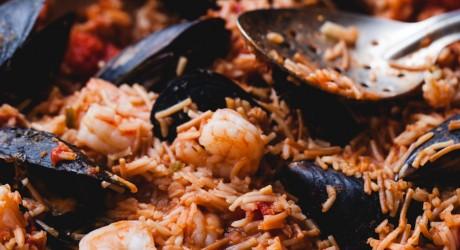ep104 - cheater seafood paella