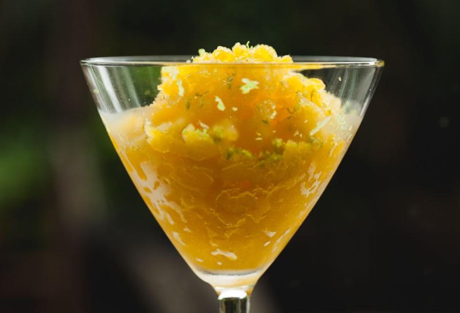 fresh mango and lime ice