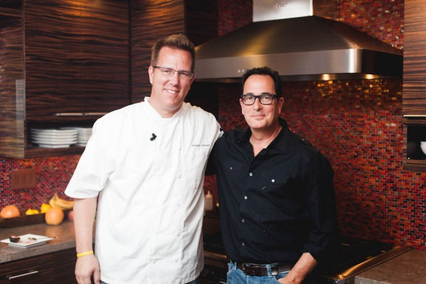 chef keegan gerhard and sam the cooking guy on the sam livecast