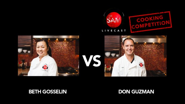 the sam livecast cooking competition beth vs don