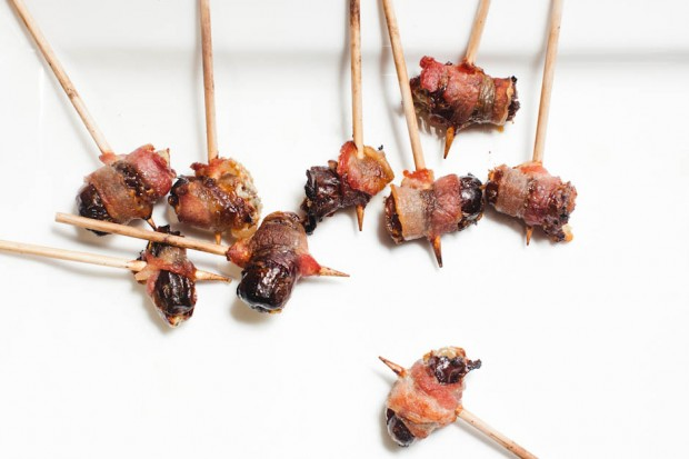 bacon wrapped blue cheese stuffed dates at fixtures living