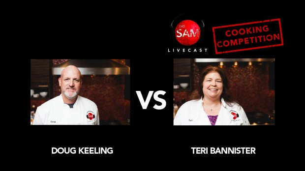 doug v teri the sam livecast cooking competition