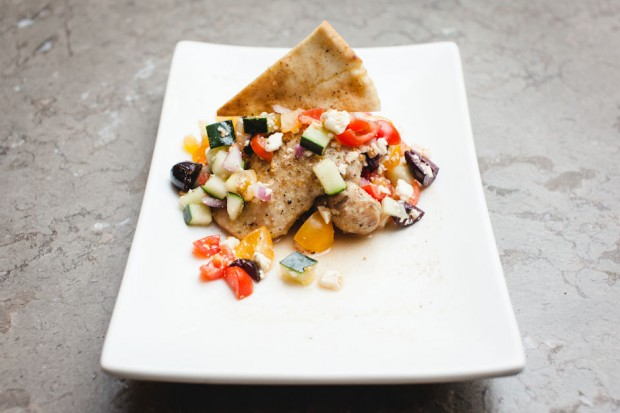 the sam livecast cooking competition, teri's greek chicken