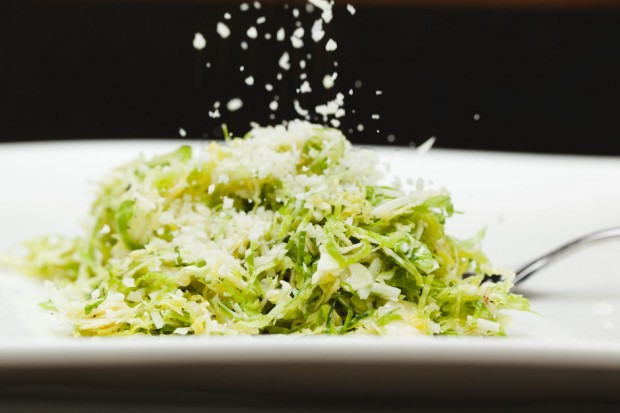 the sam livecast - shaved brussels sprouts lemon vinaigrette parmesan cheese