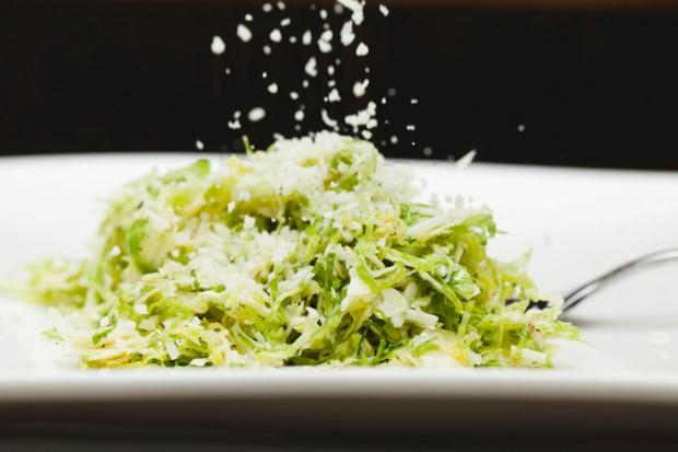 the sam livecast - shaved brussels sprouts lemon vinaigrette parmesan cheese