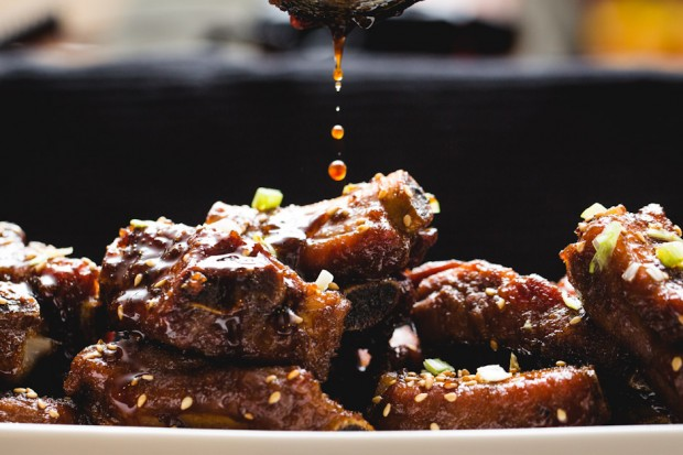 honey-garlid spareribs