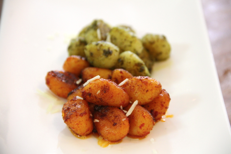crispy gnocchi with basil crispy gnocchi with pistachio golden crispy ...