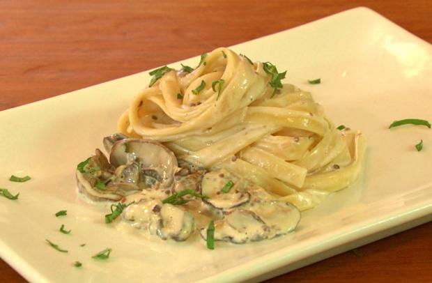 three mushroom pasta - the sam livecast