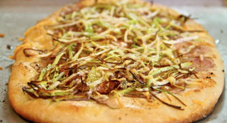 potato leek flatbread - the sam livecast
