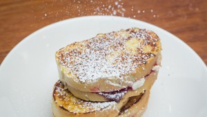 cream cheese and raspberry jelly stuffed french toast