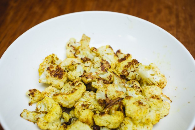 curried roast cauliflower - the sam livecast