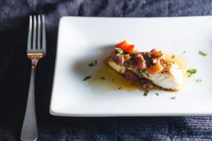 halbiut with anchovies and tomatoes - the sam livecast