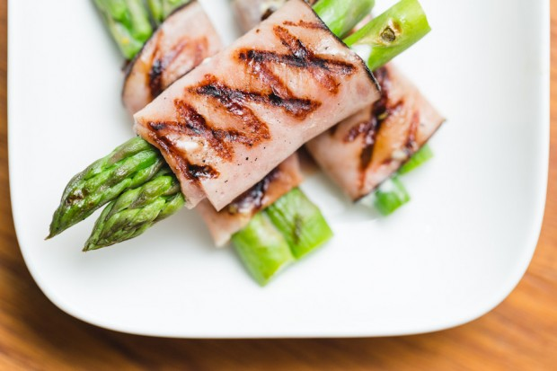 black forest ham wrapped asparagus - the sam livecast