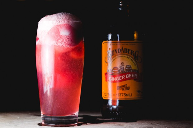 raspberry sorbet ginger beer - the sam livecast
