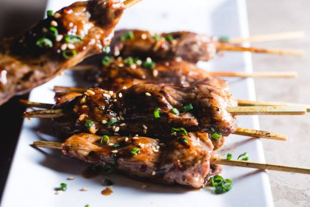 hoisin beef skewers - the sam livecast