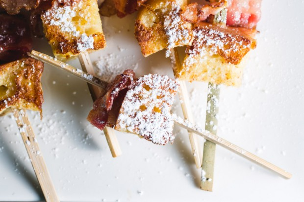 french toast bacon skewers - the sam livecast