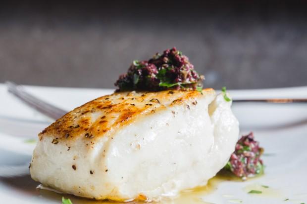 olive tapenade halibut - the sam livecast