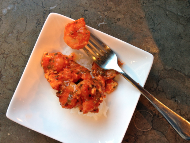 shrimp and feta in tomato sauce - the sam livecast