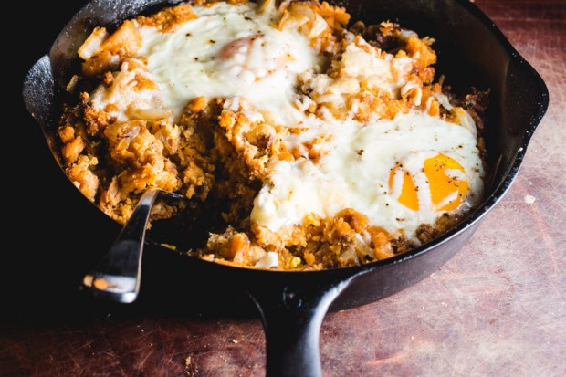 Tamale Hash & Baked Eggs - the sam livecast
