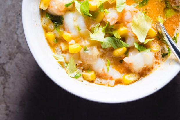 shrimp corn chowder - the sam livecast