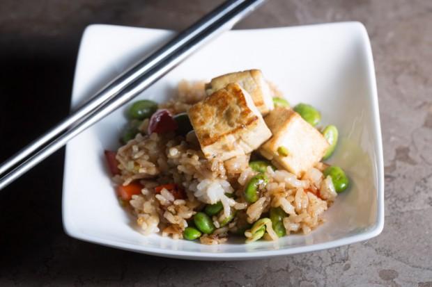 Fried Tofu Tofu Edamame Fried Rice