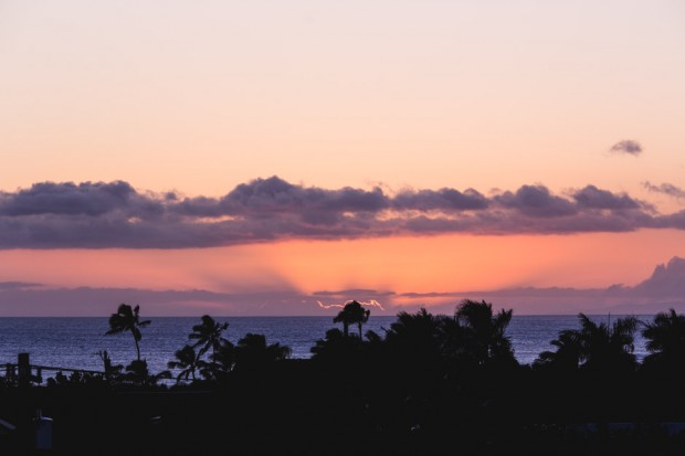 kauai sunset from koloa landing penthouse - the sam livecast