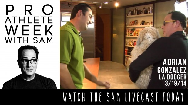 pro athlete week adrian gonzales - the sam livecast