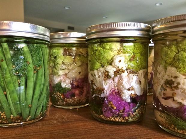 Pickled Cauliflower & Green Beans - the sam livecast