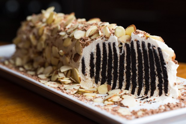 Old School Chocolate Wafer Log - the sam livecast