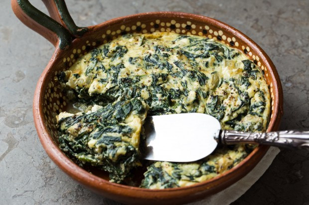 Spinach, Ricotta & Feta Soufflé - the sam livecast