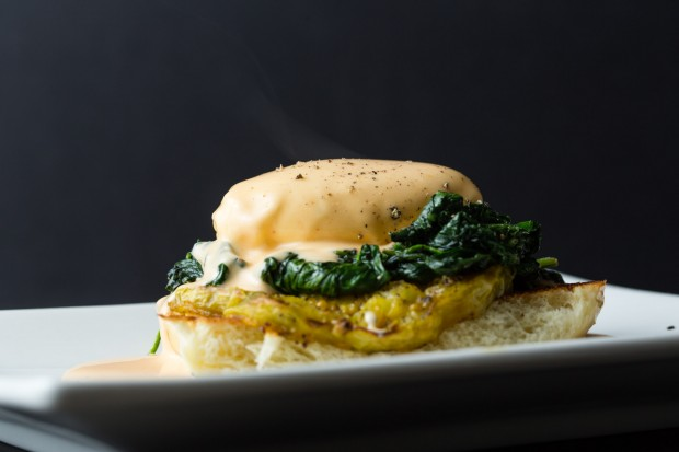 Vegetable Benedict with Sriracha Hollandaise - the sam livecast