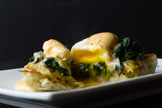 Vegetable Benedict with Sriracha Hollandaise 2 - the sam livecast