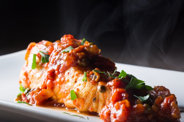 tomato sauce poached halibut - the sam livecast