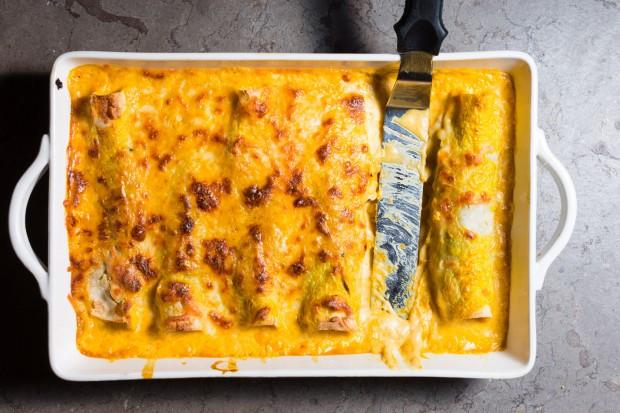 Turkey Enchiladas with Poblanos & Pumpkin - the sam livecast