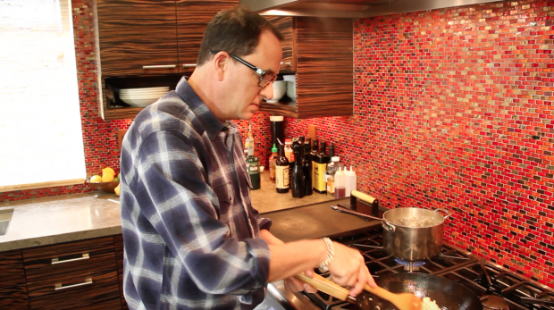 spaghetti with bacon & peppers 1 - the sam livecast