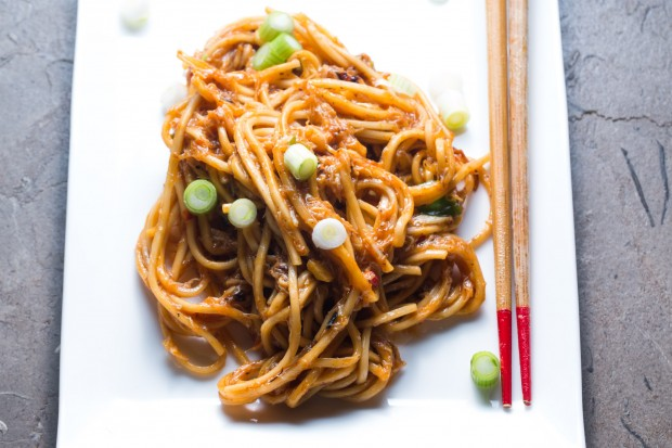 spicy noodles with crab - the sam livecast