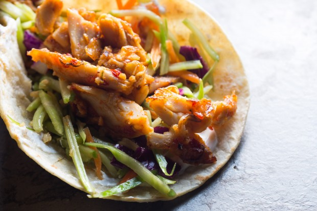 asian chicken tacos - the sam livecast