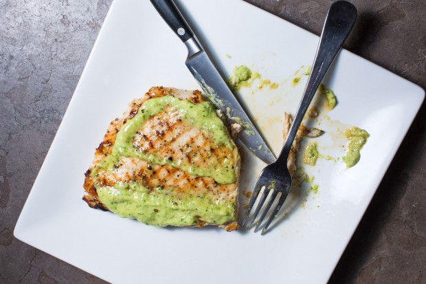 chicken with green onion pesto - the sam livecast