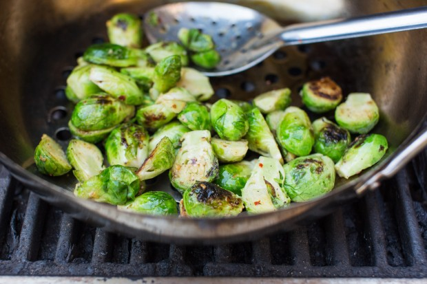 grilled brussel sprouts - the sam livecast