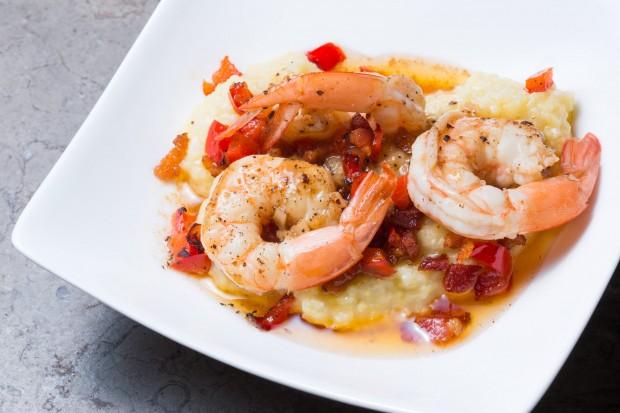 Shrimp Scampi on Polenta - the sam livecast