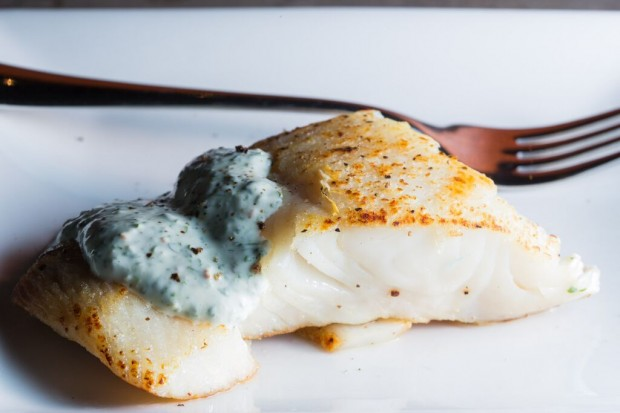 cilantro lime sauce on halibut - the sam livecast