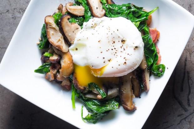 Shiitake Kale Egg Thing - the sam livecast