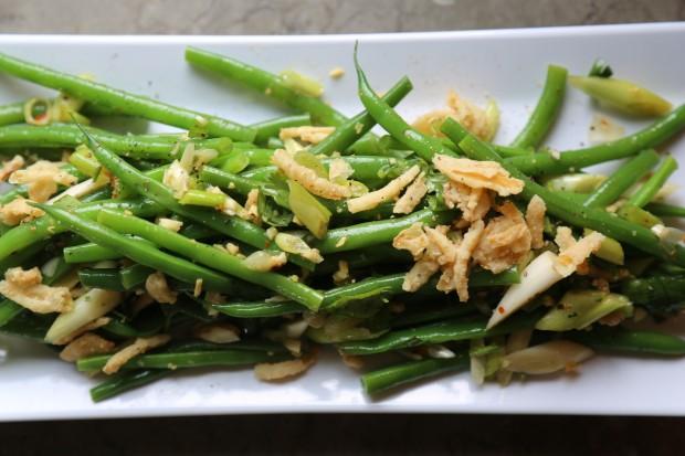 asian green bean salad - the sam livecast