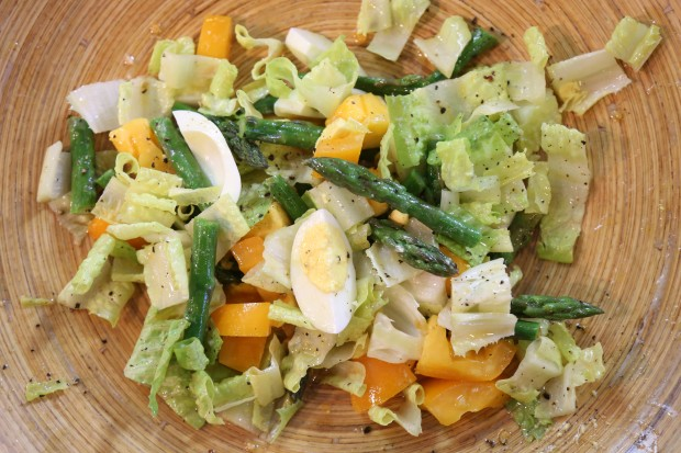 summer salad with anchovy dressing - the sam livecast