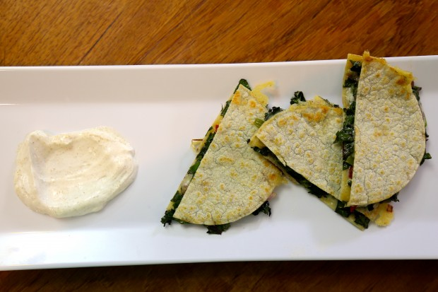 Kale Quesadilla - the sam livecast