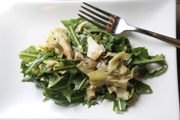 warm artichoke salad - the sam liveacast