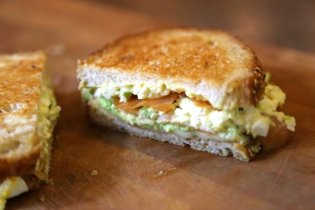 grilled egg salad, lox, avo - the sam livecast