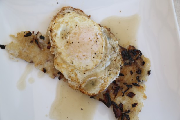 crispy rice pancakes and eggs - the sam livecast