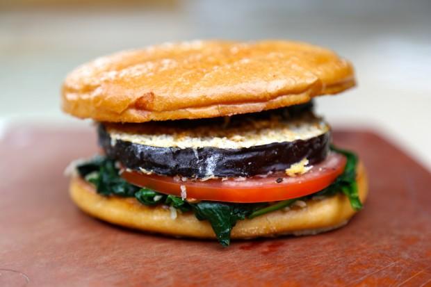 Crispy Eggplant Sandwich - the sam livecast